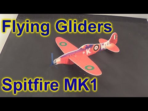 Power Prop Flying Gliders Spitfire MK1 UnBox Build and Fly Plane