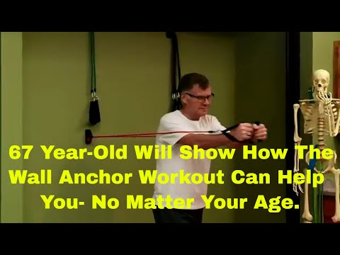 Steve is 67 Years Old. In Less than 40 Seconds He Will Show You Why He Does the Wall Anchor Workout.