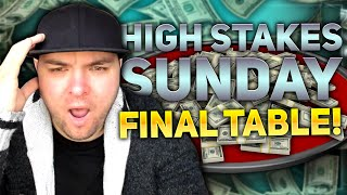 Can I WIN a HIGH STAKES Sunday Poker Tournament?!