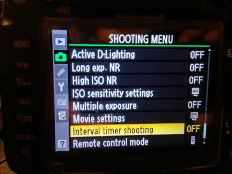 How to setup HDR Timelapse for Nikon d7000