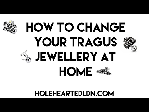 How To Change Your Tragus Piercing Jewellery At Home | Piercing Tutorial
