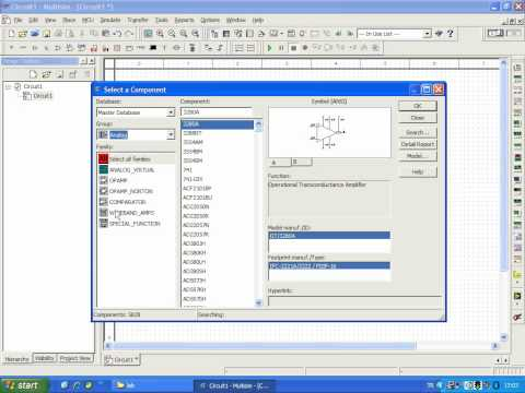 how to open and find components in multisim