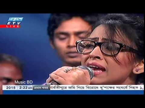 Bonomali Tumi Poro Jonome Hoyo Radha Bangla Song live studio concert 2015 by Turin Bangladeshi Idol