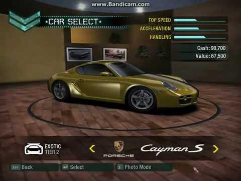 NFS Carbon- Cars Full List