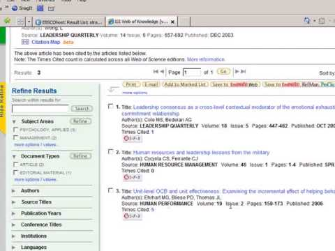 Searching ISI Web of Knowledge (citations) V4.wmv