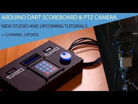 Arduino Dart Scoreboard & Camera PTZ revisit and New Studio update!