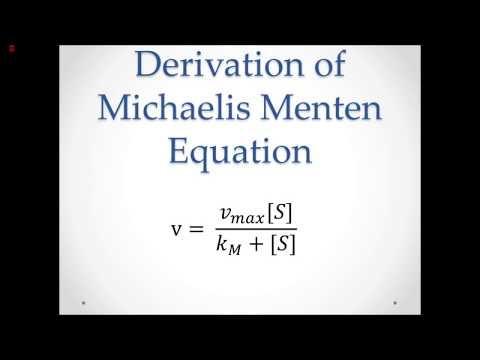 Michaelis Menten Explained and Derived