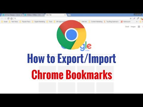 How to Export or Import Google Chrome Bookmarks