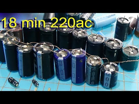 Free Energy  How To Make Capacitor Bank For Free Energy lighted the led