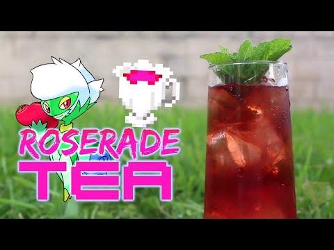 POKEMON SUN/MOON: Real Life Roserade Tea DIY