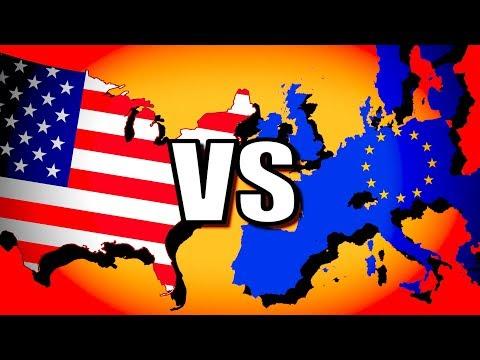 United States vs European Union (USA vs EU)   Hearts of Iron 4 [HOI4 Modern Day]