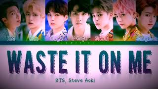 Download Waste It On Me - Steve Aok & BTS 'Lyrics' Video