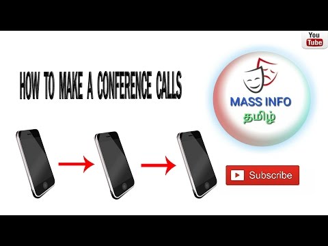 HOW TO MAKE A CONFERENCE CALLS in TAMIL   MASS INFO TAMIL