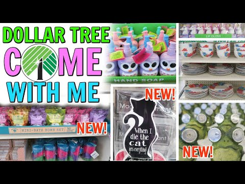 COME WITH ME TO DOLLAR TREE! EASTER BASKET ITEMS! NEW STUFF!