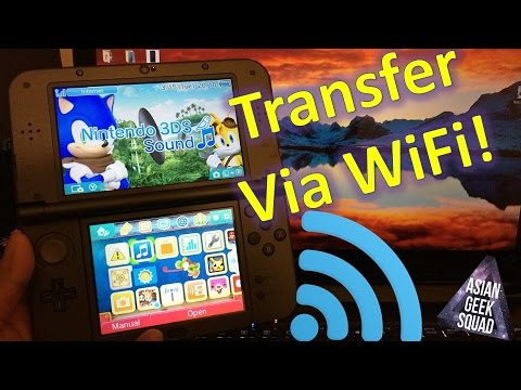 Transfer FILES New Nintendo 3DS XL to PC WIRELESSLY!