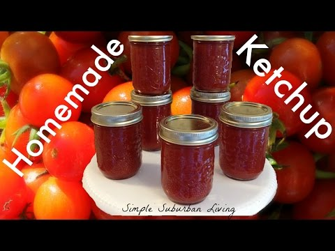 Homemade Ketchup - Using cherry tomatoes or any tomatoes!