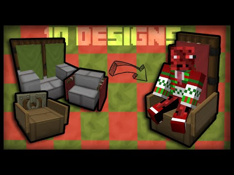Minecraft: How to make working chairs (10 chair designs)