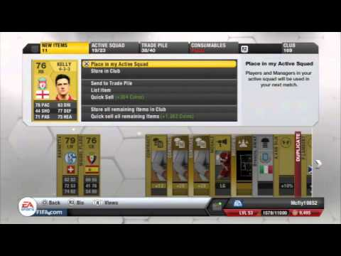 Fifa 13 Ultimate Team Pack Opening Give away!!