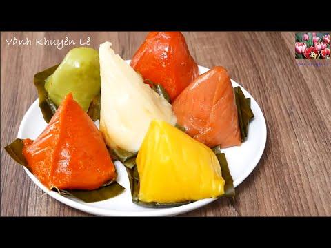 Bánh Ít - Cách làm Bánh Ít Nhân Dừa và cách tạo màu Rau củ cho các món Bánh by Vanh Khuyen