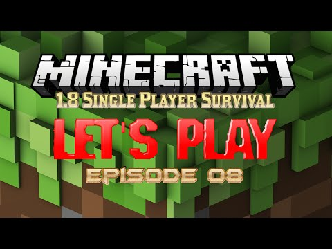 Minecraft 1.8 Single-Player Survival - Episode 8 (A Deck and More Roofies!)