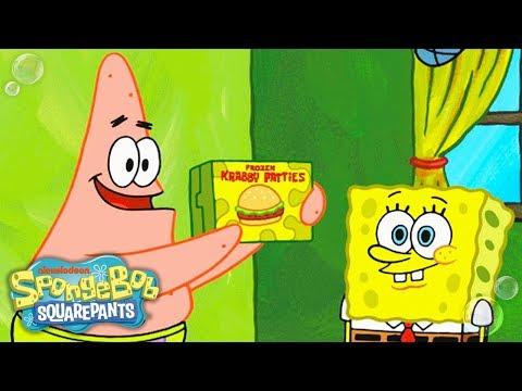 SpongeBob SquarePants | Patrick & SpongeBob Shoot a Frozen Krabby Patty Commercial | Nick