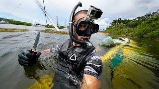 Exploring A Forgotten SailBoat Wrecked In Ocean!! (Extremely old)