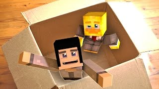 I MAILED MYSELF In A BOX And It WORKED! In Minecraft!