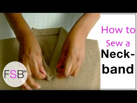 Sewing a Neckband