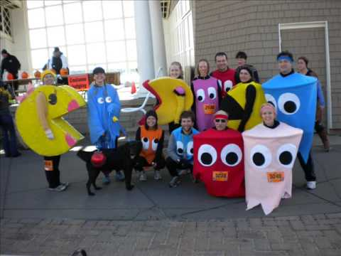Minneapolis/St. Paul Halloween Monster Dash 5K - October 31 2009 - Pac Man Costumes!