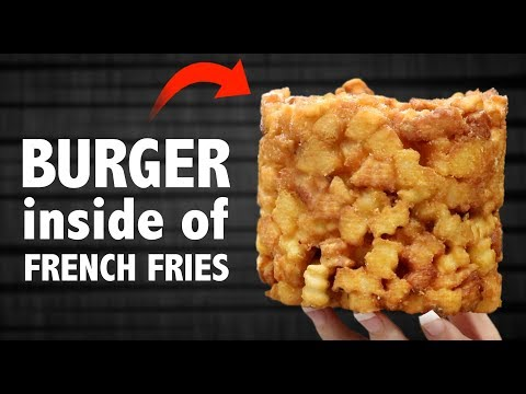 CHEESEBURGER 🍔 INSIDE OF 🍟 FRENCH FRIES