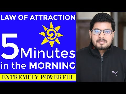 POWERFUL Law of Attraction Technique - 5 Minutes a Day | How to Use Law of Attraction | The Secret