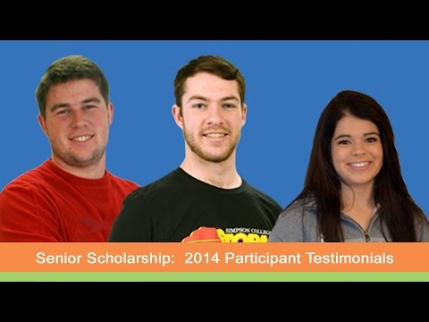 Senior Scholarship: 2014 Winner Testimonials