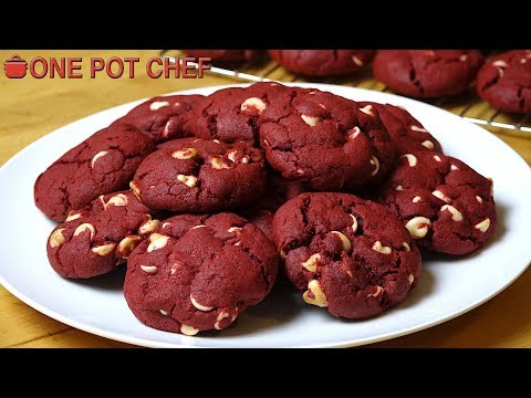 Red Velvet Chocolate Chip Cookies | One Pot Chef