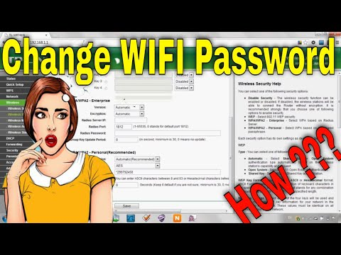How to change wifi password?