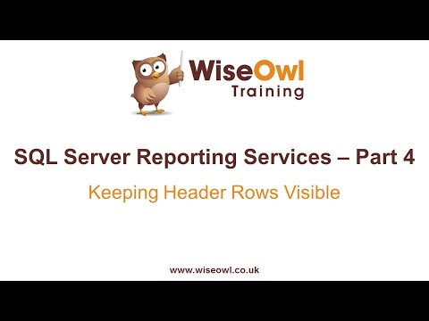 Reporting Services (SSRS) Part 4 - Keeping Header Rows Visible