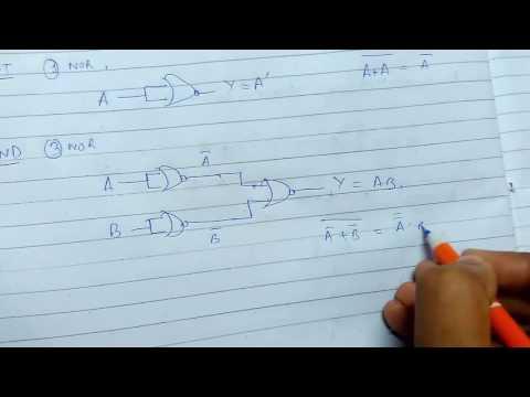 Basic Gates Using Universal Gates(NOR)