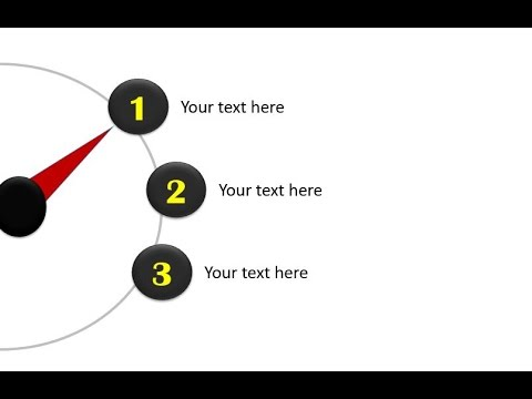 how to create clock needle in PowerPoint in 2013|How to Create Clock Needle Animation in PowerPoint
