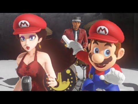 Super Mario Odyssey - All Pauline's Band Performances & Songs