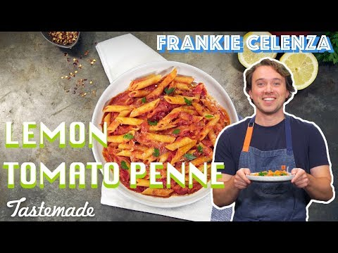Lemon Tomato Penne Pasta I Frankie Celenza