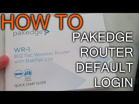 Pakedge WR1 Default User Name Password and SSID PW