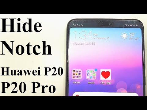 How to Hide the Notch on Huawei P20 and Huawei P20 Pro
