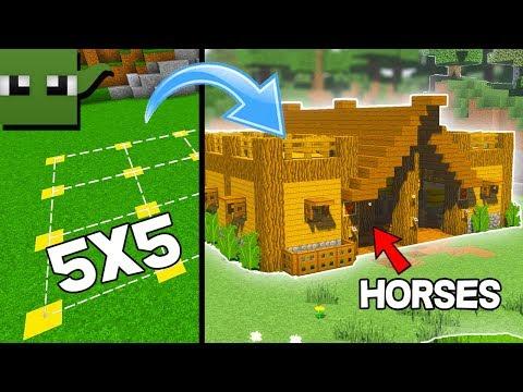 Minecraft Survival Tutorial: 5x5 Village Stables