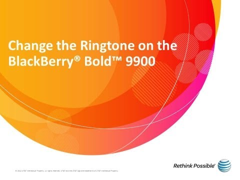 Change the Ringtone on the BlackBerry® Bold™ 9900: AT&T How To Video Series