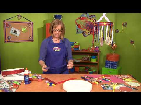 Create shadows with a birthday mobile on Hands On Crafts for Kids with Katie Hacker (1607-2)