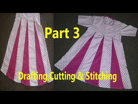 Kaliyon Wala Frock | Kalidar Frock | Drafting,Cutting & Stitching in Professional Style| Last Part 3