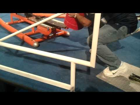AJ Hitting the Blocking Sled