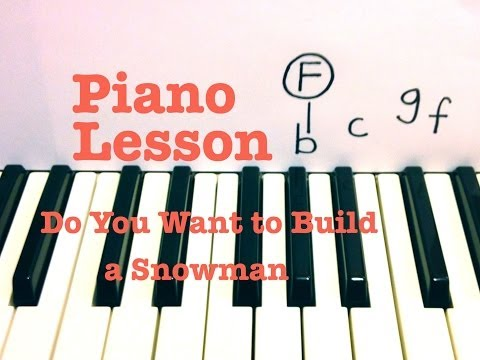 Do You Want to Build a Snowman ★ Piano Lesson ★ Original Key (EASY) ★ Frozen