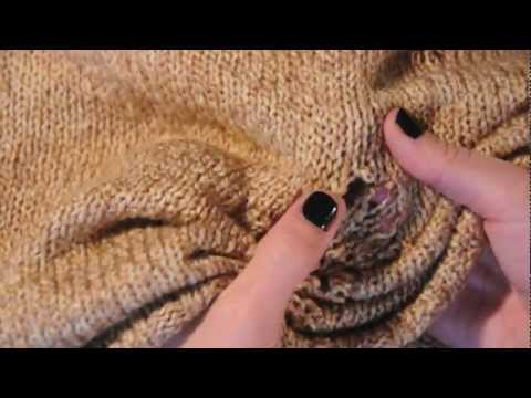 DIY - shredded sweater - DIY FASHION TUTORIAL VIDEO