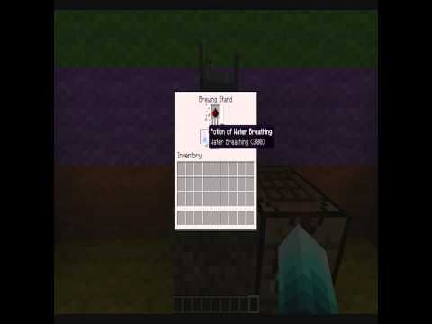 How to make Potion of water breathing 1.7 Minecraft