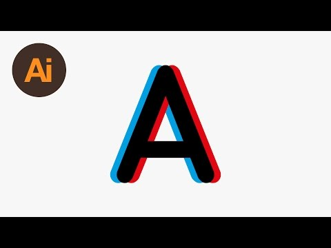 Design an Anaglyphic Text Effect Illustrator Tutorial
